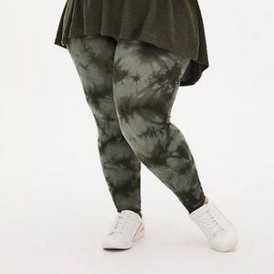 🆕Tie Dye Olive Green Premium Legging 1X 14 16 NWT